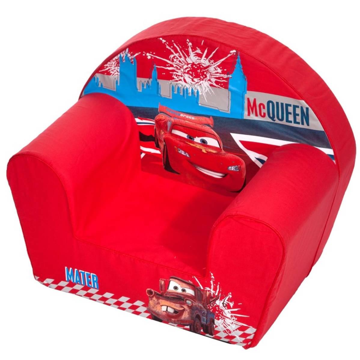 chaise fauteuil club pour enfant cars racing disney