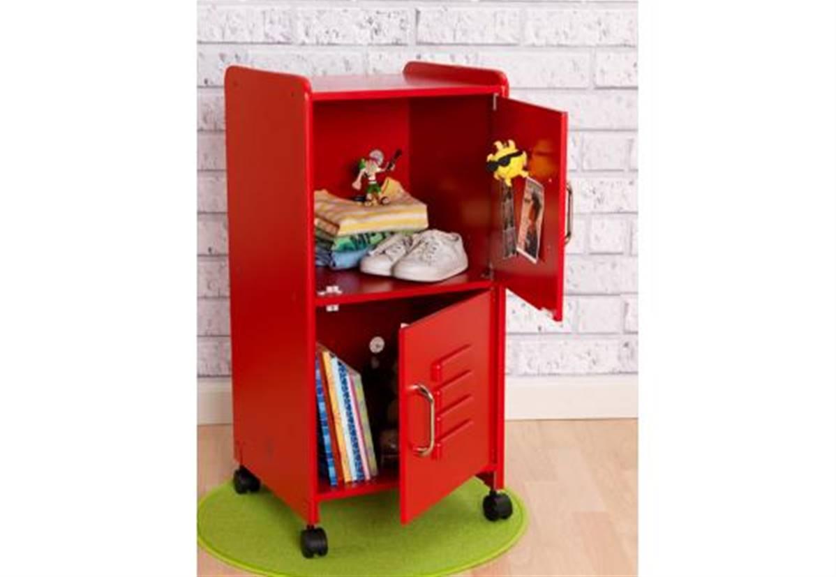 casier meuble de rangement pour bureau d enfant rouge