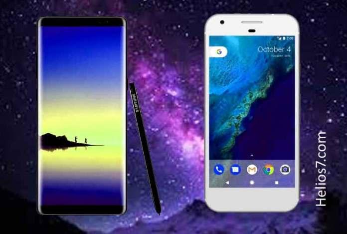 Samsung Galaxy Note 8 Vs Google Pixel XL