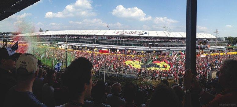 Podium Ceremony at Monza