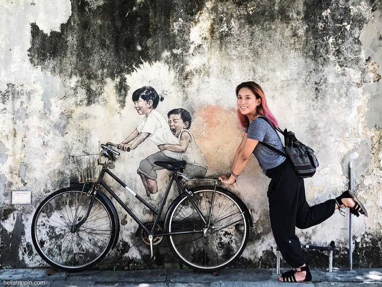 """""""Children on a Bicycle"""" by Ernest Zacharevic (2012)"""