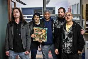 Rob, Joe and Scott from Sacrifice with Albert and Sean from Hellbound Radio