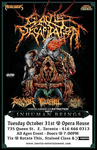 Cattle Decapitation Halloween 2017 event poster. Credit: Inertia Entertainment.
