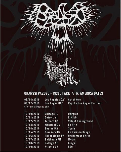 Oranssi Pazuzu Insect Ark tour dates