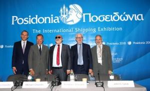 Ο Πρόεδρος της Ενώσεως Ελλήνων Εφοπλιστών (ΕΕΕ), κ. Θεόδωρος Βενιάμης, στη διάρκεια της καθιερωμένης συνέντευξης τύπου προς τους Έλληνες και ξένους δημοσιογράφους στα πλαίσια της διεθνούς έκθεσης των Ποσειδωνίων 2018