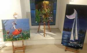 Εγκαινια ομαδικης εκθεσης ζωγραφικης στο Παλαιό δημαρχείο Γλυφάδας