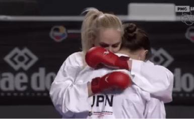 O τελικός της Ελενας Χατζηιλιάδου που κατέκτησε το χρυσό μετάλλιο στο Παγκόσμιο Πρωτάθλημα καράτε της Μαδρίτης στα +68 κιλά Bιντεο
