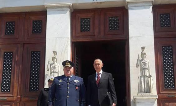Ο Πρέσβης της Ρωσίας Αντρέι Μάσλοβ συναντήθηκε με τον Διοικητή της Σχολής Εθνικής Άμυνας Αντιπτέραρχος (Ι) Λαμπράκη Δημητρίου