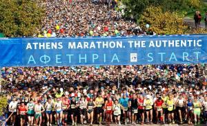 """Μία ακόμη παγκόσμια αναγνώριση για τον Μαραθώνιο Αθήνας, τον Αυθεντικό, που απέσπασε το βραβείο """"Athletics Heritage Plaque"""" της IAAF."""