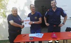 Υπογραφή του Πρωτοκόλλου Συνεργασίας Πυροσβεστες του Κοσμου με Πυροσβεστικό σώμα εθελοντών Νέου Βουτσά