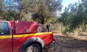 Η Ε.Ο.Δ. παράρτημα Μεσσηνίας συμμετείχε στην κατάσβεση της αναζωπύρωσης που έγινε στην Αιθαία στην βόρεια πλευρά της πυρκαγίας