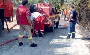 Ελληνική Ομάδα Διάσωσης Κέρκυρας Φωτιά στην Αχαραβη!