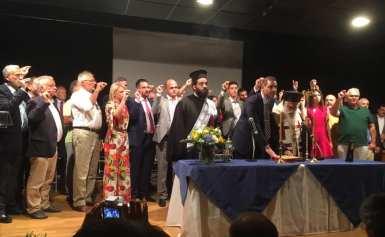 Oρκομωσία του Δημάρχου Αλίμου Ανδρέα Κονδύλη και του νέου Δημοτικού Συμβουλίου