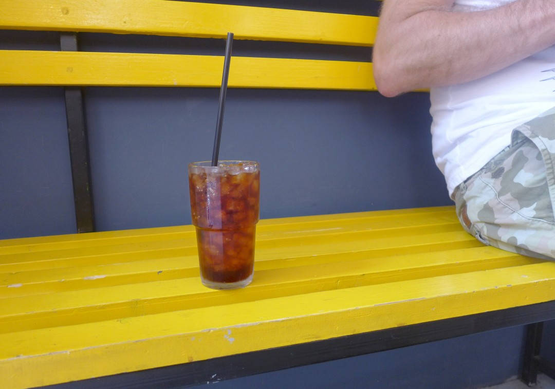 iskaffe på Satan's Coffee Corner.