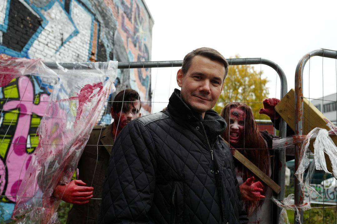Anders Borge, Deputy Country Manager for Fox International Channels var svært fornøyd med arrangementet i anledning lasering av 7. sesong av The Walking Dead.
