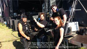 Eine Gruppe Kameraleute