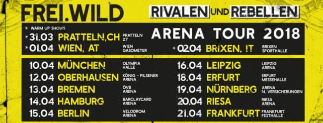 Freiwild Rivalen Und Rebellen Tour 2018 Hellfire Magazin