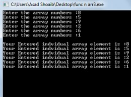C++ functions and arrays