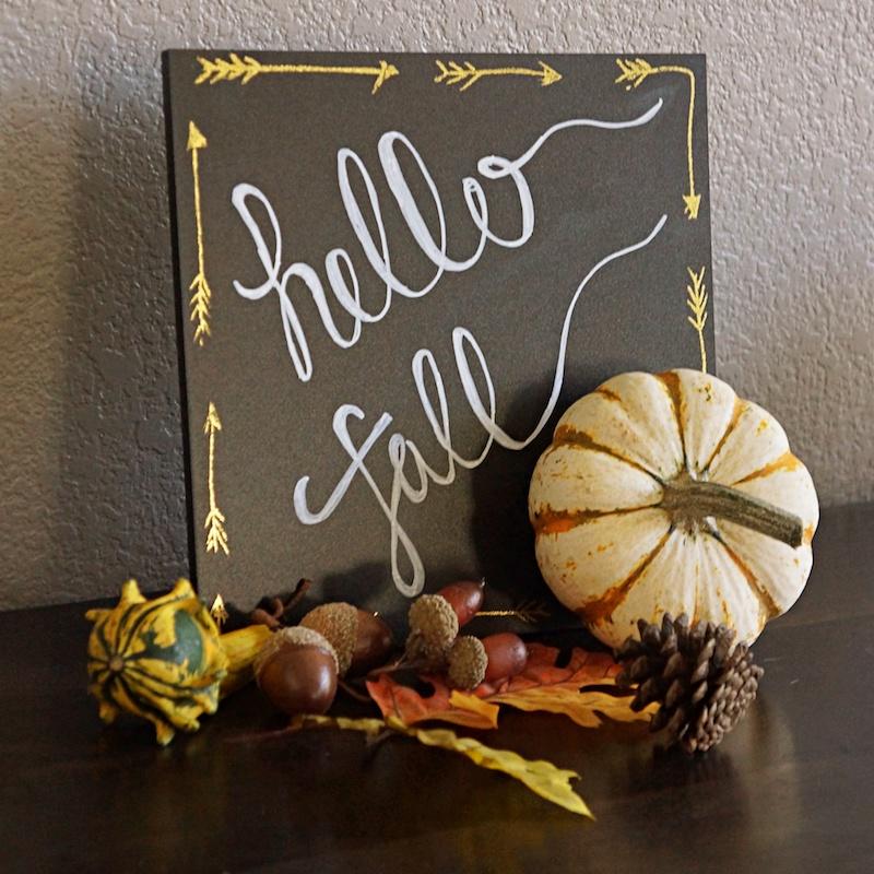 Happ Fall Sign Foliage Pumpkin