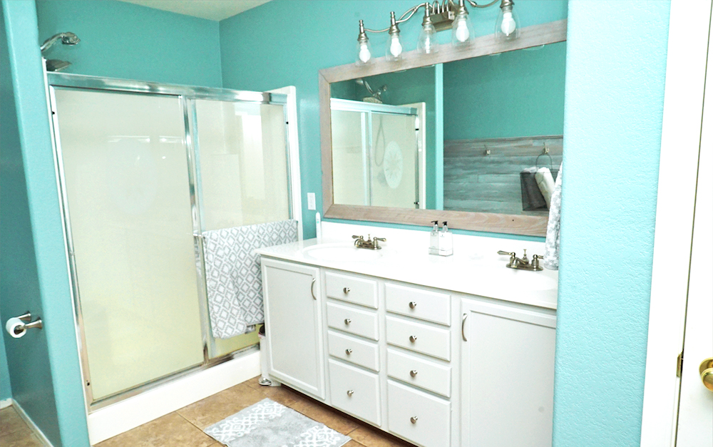 master bathroom makeover - painted vanity