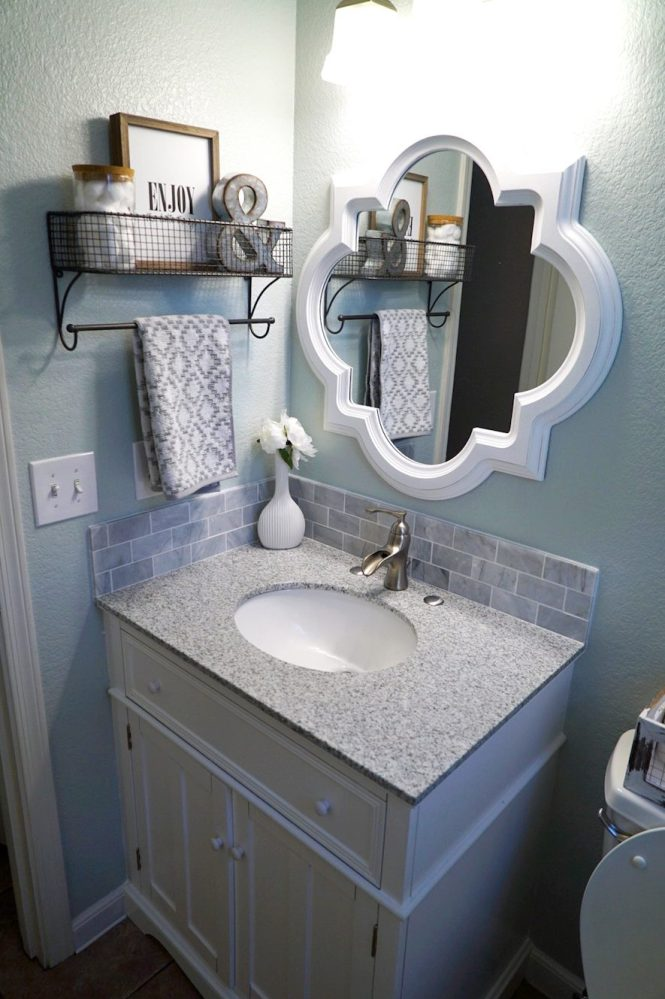 Guest Bathroom Makeover - After, Vanity Shot