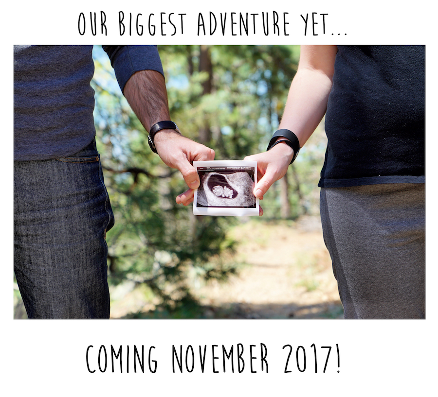 Pregnancy Announcement in the Woods