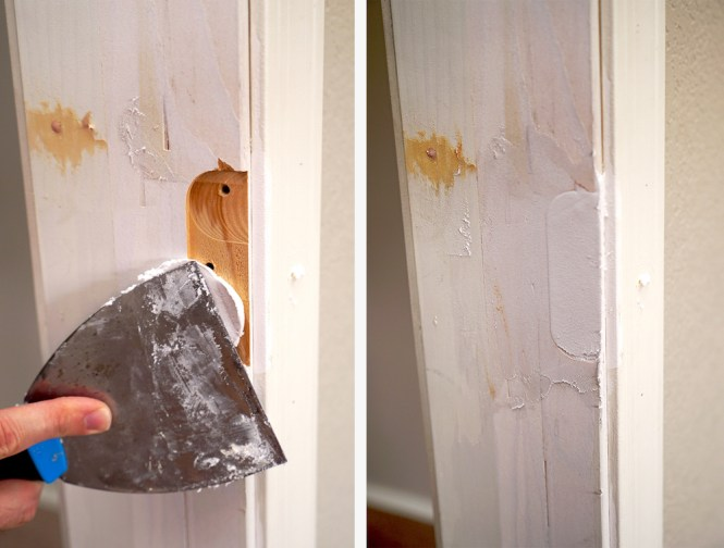 frame a doorway for barn doors - How to spackle
