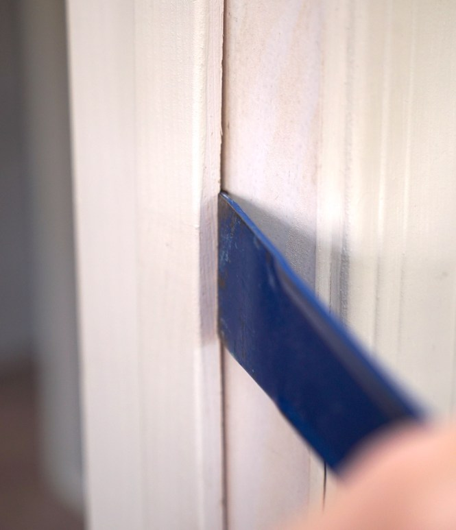 frame a doorway for barn doors - Removing trim