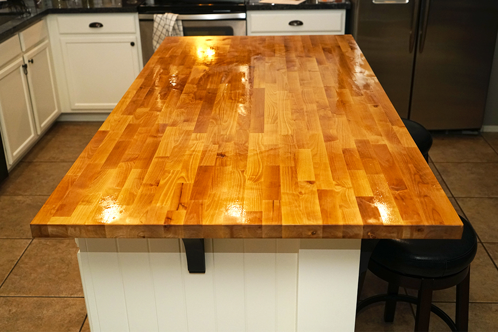 oiled butcher block countertop