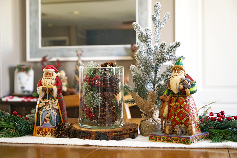 christmas decorating tips - kitchen table