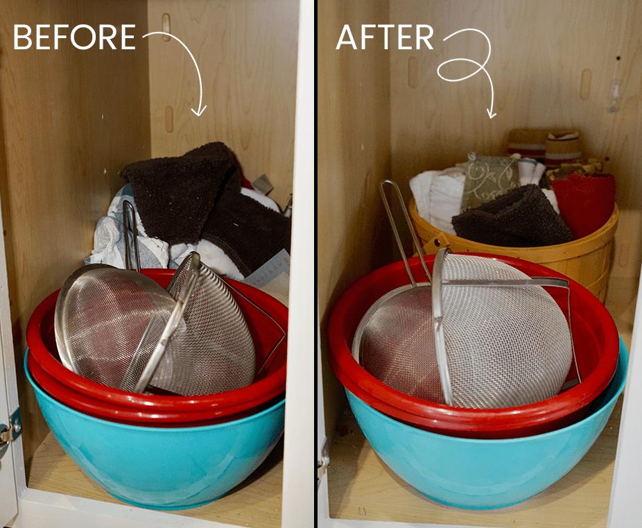 kitchen organization ideas - how to organize kitchen towels