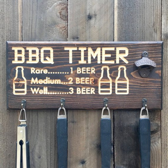 bbq timer wood sign christmas gift ideas for husband