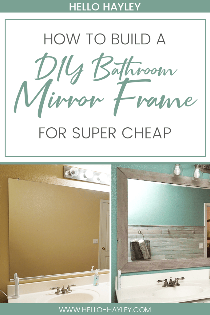 learn how to make a diy bathroom mirror frame with this easy tutorial