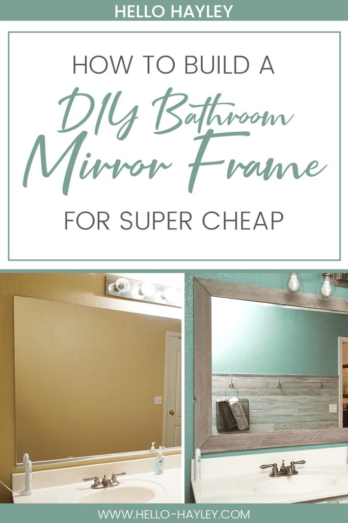 Diy Bathroom Mirror Frame For Under 10, Do It Yourself Mirror Framing