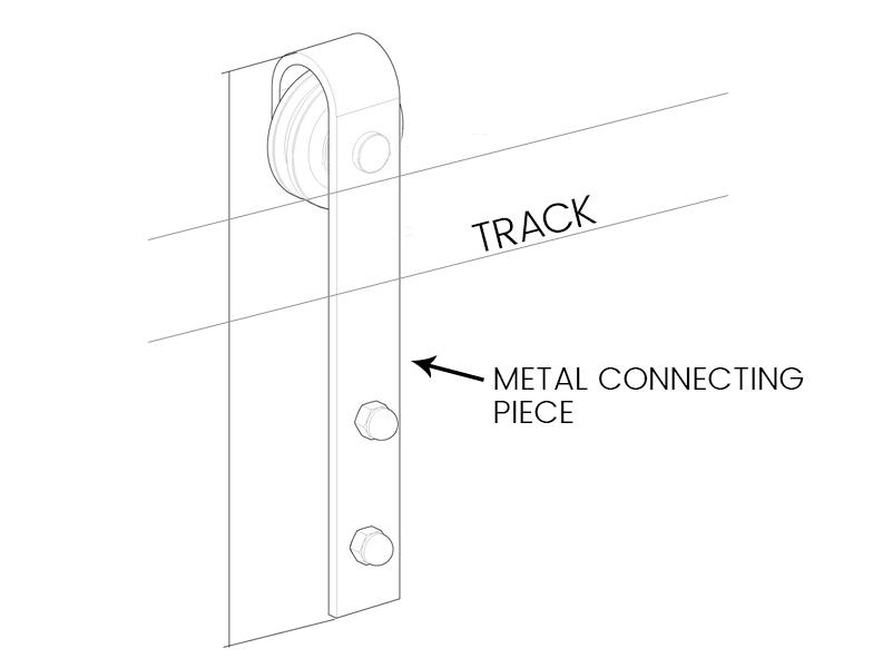 how to hang barn doors - diagram