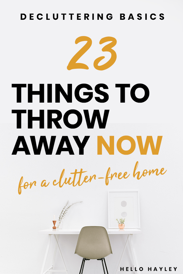 how to declutter your home fast with this easy list - pinterest pin