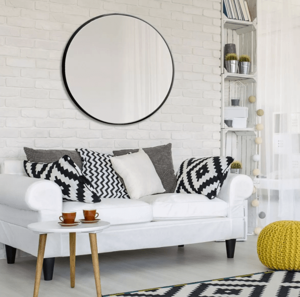 large minimalist circle mirror from target
