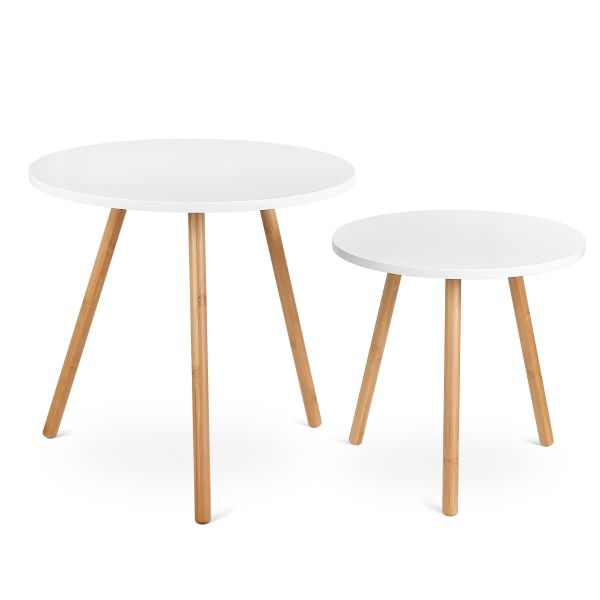 white and wood side tables from amazon