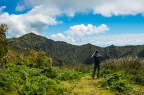der Pico da Vara mit Wanderer im Vordergrund