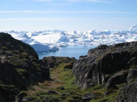 Jakobshavn Gletscher im Sommer
