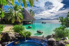 Luxusressort mit Whirlpool auf Tahiti
