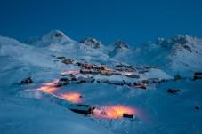 Morgenstimmung in Tasiilaq, Grönland