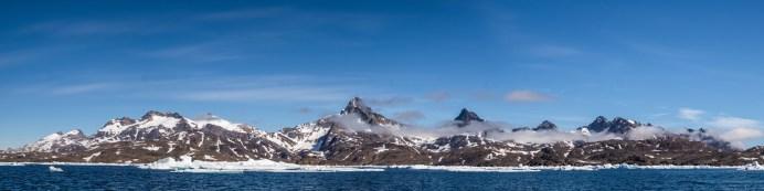 Panorama Landschaft von Grönland