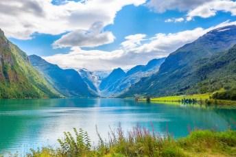 Nordfjord in Norwegen Sommertag
