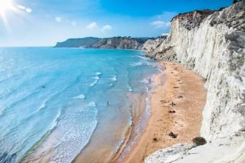 Weißer Strand Scala dei Turchi