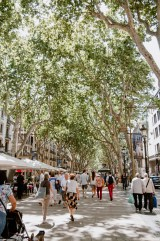 Las Rambla Straße in Barcelona