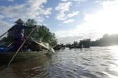Händler Im Boot am Mekong Delta