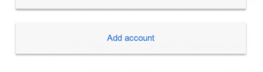 add account - no remove