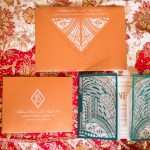 art deco Indian wedding invite by invitation maker Azure