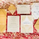gold and ivory wedding stationery | Azure